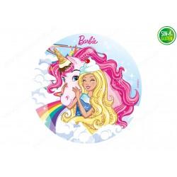 Oblea comestible de Barbie...