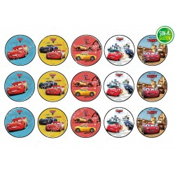 Oblea para galletas Cars...