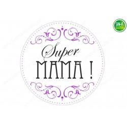 Oblea para Tarta Super Mamá