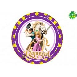 Oblea para tarta Rapunzel Nº 254