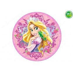 Oblea para tarta Rapunzel