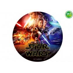 Oblea tarta redonda Star Wars