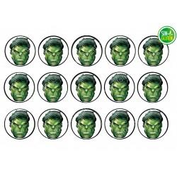 Impresión para Galletas Hulk