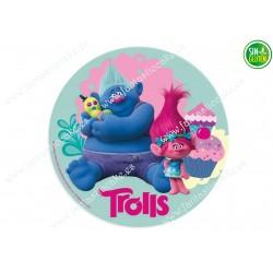 Oblea para tartas de Trolls