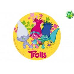 Oblea para tartas de Trolls...