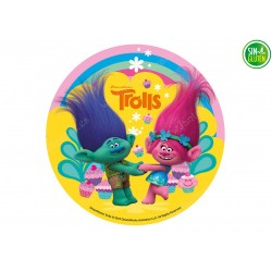 Oblea para tarta de Trolls Nº 399