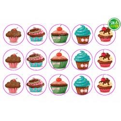Obleas para Galletas Cupcakes Nº 450