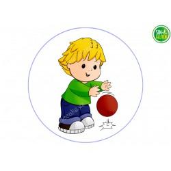 Oblea para tarta niño jugando Fútbol Nº 505