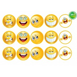 Obleas para Galletas Emojis Nº 528