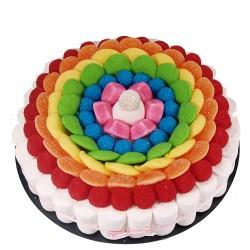 Tarta de golosinas -Rainbow...