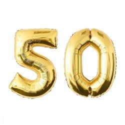 GLOBOS NÚMERO ORO 50 EN FOIL