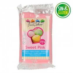Fondant funcakes color rosa 250 grs -  sin gluten - Fantastic Cake