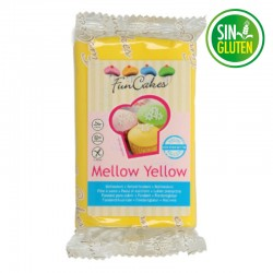 Fondant funcakes color amarillo 250 grs -  sin gluten - Fantastic Cake