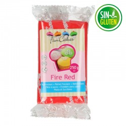 Fondant funcakes rojo 250 grs -  sin gluten - Fantastic Cake