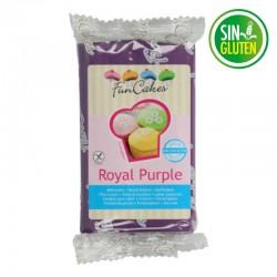 Fondant funcakes color purpura 250 grs -  sin gluten - Fantastic Cake