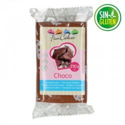 Fondant funcakes color marrón sabor chocolate 250 grs -  sin gluten - Fantastic Cake