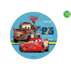 Oblea redonda para Tarta Cars y Mate - PAPEL DE AZÚCAR - SIN GLUTEN - FANTASTIC CAKE