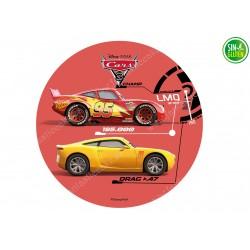 Impresión Comestible para Tarta Cars - PAPEL DE AZÚCAR DE CARS - SIN GLUTEN - FANTASTIC CAKE