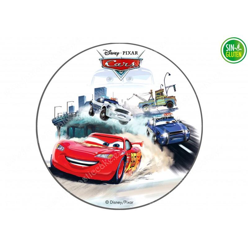 Impresión Comestible para Tarta Carrera de Cars - PAPEL DE AZÚCAR PARA TARTAS - SIN GLUTEN - FANTASTIC CAKE