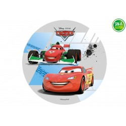 Oblea redonda para Tarta Cars Compitiendo - PAPEL DE AZÚCAR CARS - SIN GLUTEN - FANTASTIC CAKE