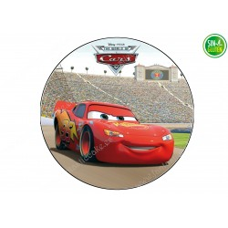 Oblea para Tarta Cars en el Circuito - PAPEL DE AZÚCAR CARS - SIN GLUTEN - FANTASTIC CAKE