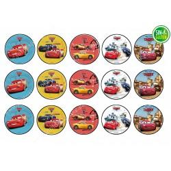 Oblea para galletas Cars Competiciones - PAPEL DE AZUCAR PARA GALLETAS DE CARS - SIN GLUTEN - FANTASTIC CAKE
