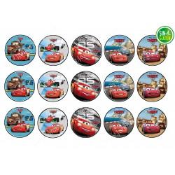 Oblea para galletas Cars Competiciones 2 - PAPEL DE AZUCAR CARS PARA GALLETAS - SIN GLUTEN - FANTASTIC CAKE