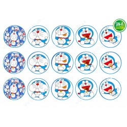 Obleas para galletas Doraemon - PAPEL DE AZÚCAR para galletas Doraemon - SIN GLUTEN - FANTASTIC CAKE