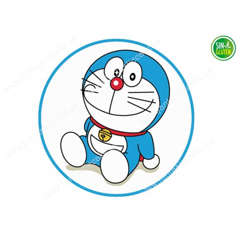 Oblea para Tarta Doraemon - PAPEL DE AZÚCAR para Tarta Doraemon - SIN GLUTEN - FANTASTIC CAKE