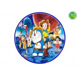 Impresión Comestible para Tarta redonda Doraemon - PAPEL DE AZÚCAR para Tarta redonda Doraemon - SIN GLUTEN - FANTASTIC CAKE