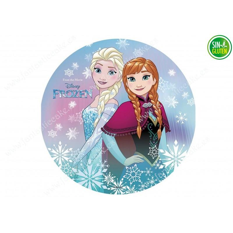Impresión Comestible para Tarta Frozen y Elsa - PAPEL DE AZÚCAR para Tarta Frozen y Elsa - SIN GLUTEN - FANTASTIC CAKE