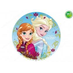 Impresión Comestible para Tarta Elsa y Frozen - PAPEL DE AZÚCAR para Tarta Elsa y Frozen - SIN GLUTEN - FANTASTIC CAKE
