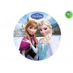 Oblea para Tarta Frozen y Elsa - PAPEL DE AZÚCAR para Tarta Frozen y Elsa - SIN GLUTEN - FANTASTIC CAKE