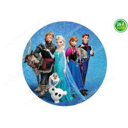 Oblea para Tarta Frozen Anna, Elsa Kristoff, Olaf - PAPEL DE AZÚCAR para Tarta Frozen Anna, Elsa Kristoff, Olaf