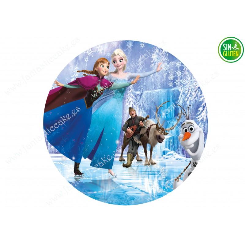 Impresión Comestible Frozen Elsa - PAPEL DE AZÚCAR DE Frozen Elsa - SIN GLUTEN - FANTASTIC CAKE