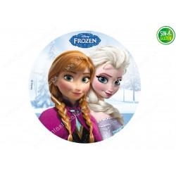 Impresión Comestible Frozen Elsa y Anna - PAPEL DE AZÚCAR DE Frozen Elsa y Anna - SIN GLUTEN - FANTASTIC CAKE
