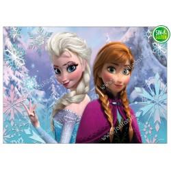 Oblea para tarta rectangular Frozen -  Elsa - Papel de azúcar para tarta rectangular Frozen - SIN GLUTEN - FANTASTIC CAKE
