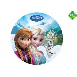 Oblea comestible Frozen - Papel de azúcar Frozen - SIN GLUTEN - FANTASTIC CAKE
