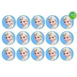 Oblea para Galletas Frozen - Anna - Papel de azúcar para Galletas Frozen - Anna - sin gluten - Fantastic Cake