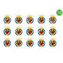 Oblea para Galletas Villarreal Club de Fútbol - papel de azúcar para Galletas Villarreal Club de Fútbol - sin gluten