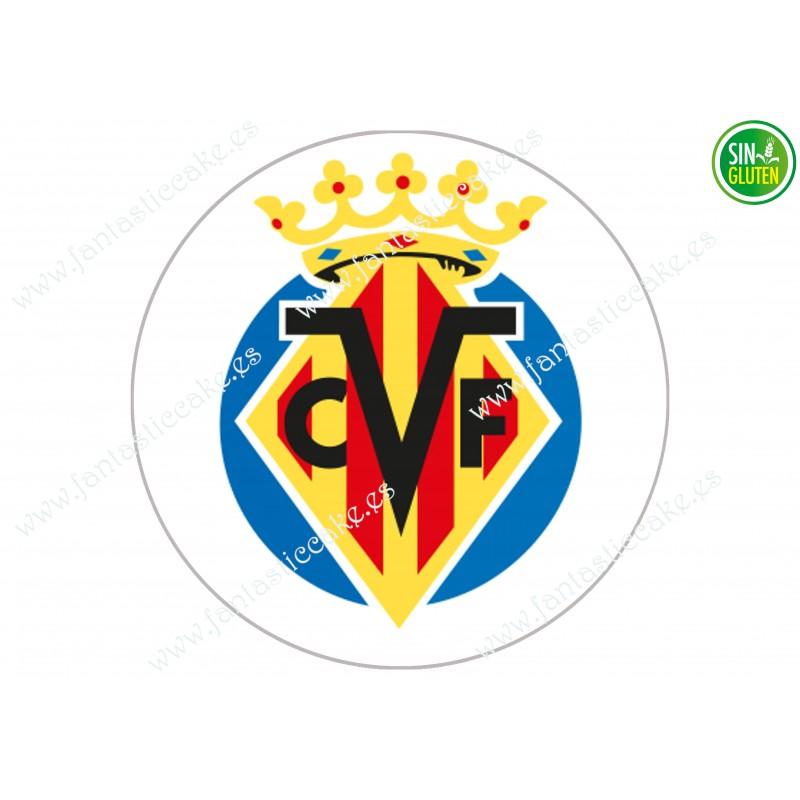 Oblea comestible Tarta Villarreal Fútbol Club - papel de azúcar para Tarta Villarreal Fútbol Club - sin gluten - Fantastic cake