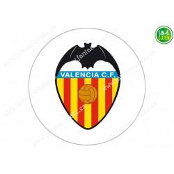 Oblea para tarta Valencia Club Fútbol - papel de azúcar para tarta Valencia Club Fútbol - sin gluten - Fantastic Cake
