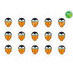 Oblea para Galletas Valencia Club Fútbol - papel de azúcar para Galletas Valencia Club Fútbol - sin gluten - Fantastic Cake