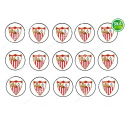 Oblea para Galletas Sevilla Fútbol Club - Papel de azúcar para Galletas Sevilla Fútbol Club - sin gluten - Fantastic Cake