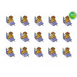 Oblea para Galletas Real Sociedad de Fútbol - Papel de azúcar para Galletas Real Sociedad de Fútbol - sin gluten