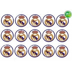 Oblea para Galletas Real Madrid - papel de azúcar para Galletas Real Madrid - sin gluten - fantastic cake
