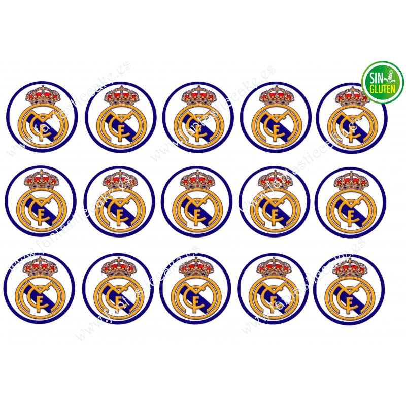 Oblea para Galletas Real Madrid - papel de azúcar para Galletas Real Madrid - sin gluten - fantastic cake