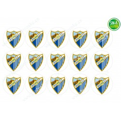 Oblea para Galletas Málaga club de Fútbol - papel de azúcar para Galletas Málaga club de Fútbol - sin gluten - Fantastic Cake