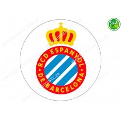 Oblea para tarta Real Club Deportivo Espanyol - papel de azúcar para tarta Real Club Deportivo Espanyol - sin gluten