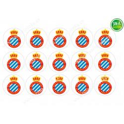 Oblea para Galletas Real Club Deportivo Espanyol - papel de azúcar para Galletas Real Club Deportivo Espanyol - sin gluten